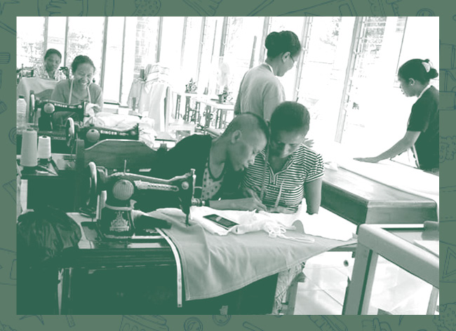Este voucher permite que os voluntários MOVE se desloquem até ao Oecusse a fim de ajudarem as irmãs a catalogar os seus produtos na Alfeitaria do Centro das irmãs franciscanas do Oecusse.